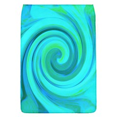 Groovy Cool Abstract Aqua Liquid Art Swirl Painting Removable Flap Cover (l) by myrubiogarden