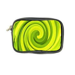 Groovy Abstract Green Liquid Art Swirl Painting Coin Purse by myrubiogarden