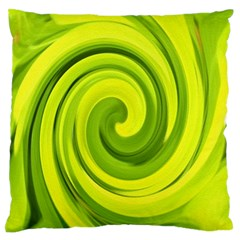 Groovy Abstract Green Liquid Art Swirl Painting Standard Flano Cushion Case (one Side) by myrubiogarden