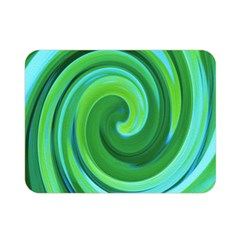 Groovy Abstract Turquoise Liquid Swirl Painting Double Sided Flano Blanket (mini)