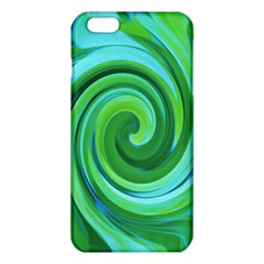 Groovy Abstract Turquoise Liquid Swirl Painting Iphone 6 Plus/6s Plus Tpu Case