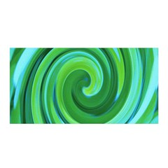 Groovy Abstract Turquoise Liquid Swirl Painting Satin Wrap by myrubiogarden