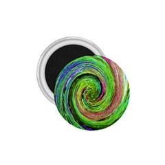 Groovy Abstract Green And Crimson Liquid Swirl 1 75  Magnets by myrubiogarden