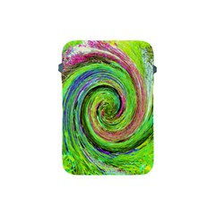 Groovy Abstract Green And Crimson Liquid Swirl Apple Ipad Mini Protective Soft Cases by myrubiogarden