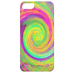 Groovy Abstract Purple And Yellow Liquid Swirl Apple Iphone 5 Classic Hardshell Case by myrubiogarden