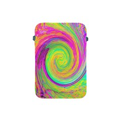 Groovy Abstract Purple And Yellow Liquid Swirl Apple Ipad Mini Protective Soft Cases by myrubiogarden