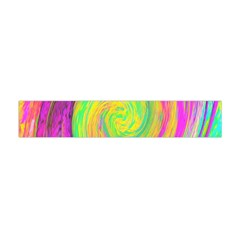 Groovy Abstract Purple And Yellow Liquid Swirl Flano Scarf (mini) by myrubiogarden