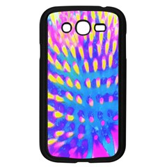Pink, Blue And Yellow Abstract Coneflower Samsung Galaxy Grand Duos I9082 Case (black) by myrubiogarden