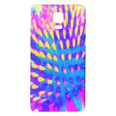 Pink, Blue And Yellow Abstract Coneflower Samsung Note 4 Hardshell Back Case by myrubiogarden