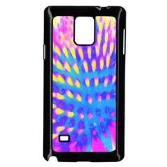 Pink, Blue And Yellow Abstract Coneflower Samsung Galaxy Note 4 Case (black)