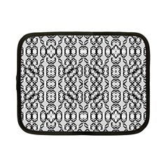 Black And White Intricate Modern Geometric Pattern Netbook Case (small) by dflcprintsclothing