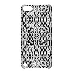 Black And White Intricate Modern Geometric Pattern Apple Ipod Touch 5 Hardshell Case With Stand