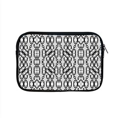 Black And White Intricate Modern Geometric Pattern Apple Macbook Pro 15  Zipper Case by dflcprintsclothing