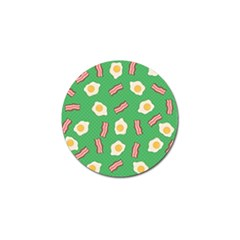 Bacon And Egg Pop Art Pattern Golf Ball Marker (10 Pack) by Valentinaart