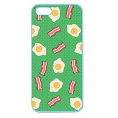 Bacon And Egg Pop Art Pattern Apple Seamless Iphone 5 Case (color) by Valentinaart
