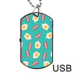 Bacon And Egg Pop Art Pattern Dog Tag Usb Flash (one Side)