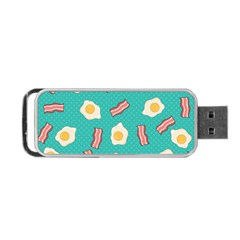 Bacon And Egg Pop Art Pattern Portable Usb Flash (two Sides) by Valentinaart