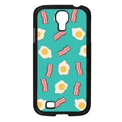 Bacon And Egg Pop Art Pattern Samsung Galaxy S4 I9500/ I9505 Case (black)