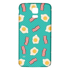 Bacon And Egg Pop Art Pattern Samsung Galaxy S5 Back Case (white)