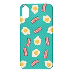 Bacon And Egg Pop Art Pattern Apple Iphone Xs Hardshell Case