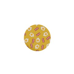 Bacon And Egg Pop Art Pattern 1  Mini Buttons