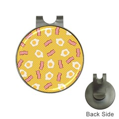Bacon And Egg Pop Art Pattern Hat Clips With Golf Markers