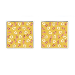Bacon And Egg Pop Art Pattern Cufflinks (square) by Valentinaart