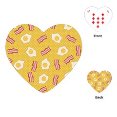 Bacon And Egg Pop Art Pattern Playing Cards (heart)