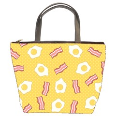 Bacon And Egg Pop Art Pattern Bucket Bag