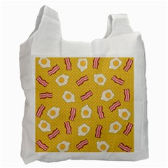 Bacon And Egg Pop Art Pattern Recycle Bag (one Side)