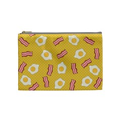 Bacon And Egg Pop Art Pattern Cosmetic Bag (medium)