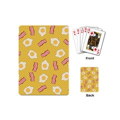 Bacon And Egg Pop Art Pattern Playing Cards (mini)