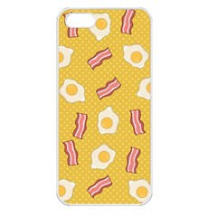 Bacon And Egg Pop Art Pattern Apple Iphone 5 Seamless Case (white)