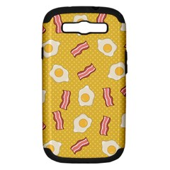 Bacon And Egg Pop Art Pattern Samsung Galaxy S Iii Hardshell Case (pc+silicone)