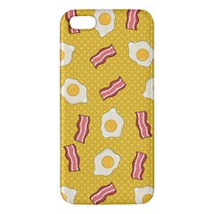 Bacon And Egg Pop Art Pattern Apple Iphone 5 Premium Hardshell Case