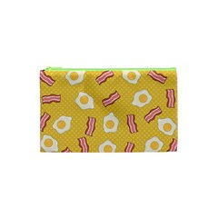 Bacon And Egg Pop Art Pattern Cosmetic Bag (xs) by Valentinaart