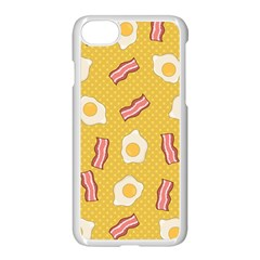 Bacon And Egg Pop Art Pattern Apple Iphone 7 Seamless Case (white)