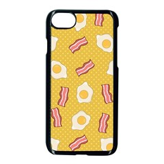 Bacon And Egg Pop Art Pattern Apple Iphone 8 Seamless Case (black)
