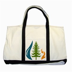 Forest Christmas Tree Spruce Two Tone Tote Bag