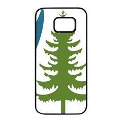 Forest Christmas Tree Spruce Samsung Galaxy S7 Edge Black Seamless Case