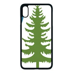 Forest Christmas Tree Spruce Apple Iphone Xs Max Seamless Case (black) by Desi8484