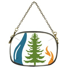 Forest Christmas Tree Spruce Chain Purse (two Sides)