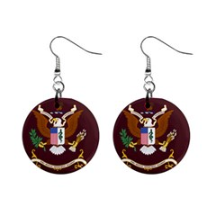 U S  Army Medical Department Regimental Flag Mini Button Earrings by abbeyz71
