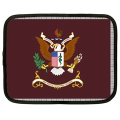 U S  Army Medical Department Regimental Flag Netbook Case (xl) by abbeyz71