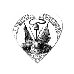 Seal Of Board Of War And Ordnance, 1776-1781 Heart Magnet by abbeyz71