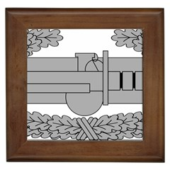 U S  Army Combat Action Badge Framed Tiles by abbeyz71
