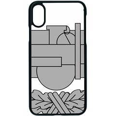 U S  Army Combat Action Badge Apple Iphone Xs Seamless Case (black)
