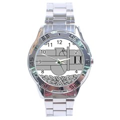 U S  Army Combat Action Badge Stainless Steel Analogue Watch