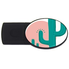 Vector Cactus Usb Flash Drive Oval (2 Gb) by Desi8477