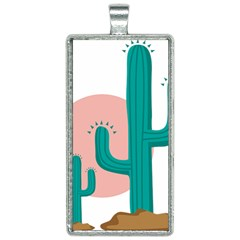 Vector Cactus Rectangle Necklace by Desi8477